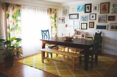 one of my all time favorite blogs + i love this happy little dining space