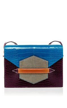 Hermes Amethyst & Blue Izmir Alligator, Agate Lizard, And Natural Barenia Leather Faco by HERITAGE AUCTIONS SPECIAL COLLECTION for Preorder on Moda Operandi