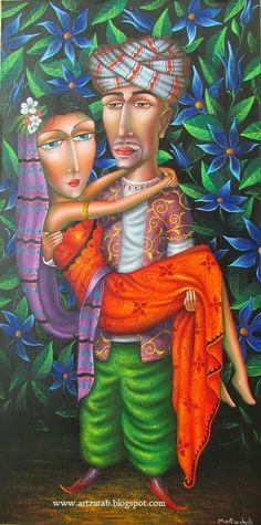 "Artist Zurab Martiashvili,""Oriental Night"" 50x100 canvas \ oil  2014"