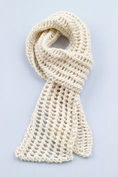Loom Knit Diagonal Lace Scarf