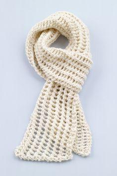 Loom Knit Diagonal Lace Scarf