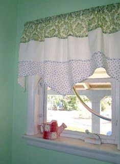 curtain pattern for over the kitchen sink