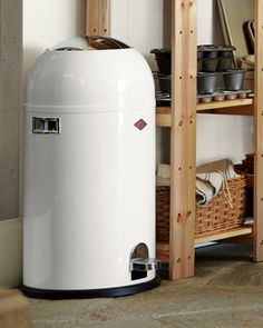 Wesco Kickmaster Trash Can #williamssonoma ][ nice to see that one of r2d2's kids got a job.