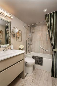 8 Fabulous Designer Upgrades For Your Master Bathroom Small Bathroom Interior, Baths Interior, Bathroom Styling, Master Bathroom, French Bathroom, Condo Bathroom, Ikea Bathroom, Interior Design Gallery, Interior Design Tips