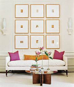 Showhouse Rooms by Designer Eileen Kathryn Boyd - Traditional Home  great artwork display