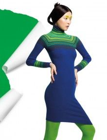 """""""In this image: Dress (1024V2250). Fall/Winter 2012 United Colors of Benetton woman collection."""""""