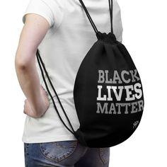 Black lives matter Drawstring Bag, Blacklivesmatter bag Inside Shop, Travel Light, Gym Bag, Unisex, Bags, Etsy, Life, Handbags, Dime Bags