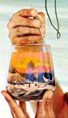 Desenhos com areia