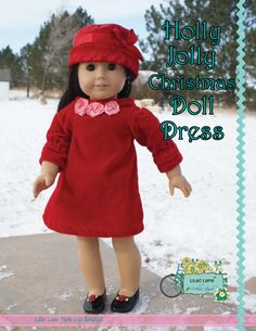 Holly Jolly Christmas Doll Dress - free pattern