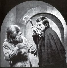 Quentin and Barnabas Collins clash in a scene from the original DARK SHADOWS