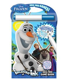 Another great find on #zulily! Frozen Imagine Ink Mess Free Game Book by Frozen #zulilyfinds