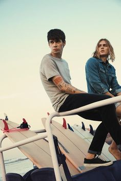 Cole Mohr and Ton Heukels Model Jack and Jones Summer 2017 Denim Collection