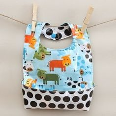 Sewing Pattern: This baby bib will protect your little one from meal time messes and make clean up a breeze.