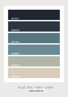 Color Palette For Home, Hex Color Palette, Bedroom Colour Palette, Blue Color Schemes, Blue Bedroom Colors, Navy Blue Bedrooms, Pantone Colour Palettes, Pantone Color, Navy Blue Pantone