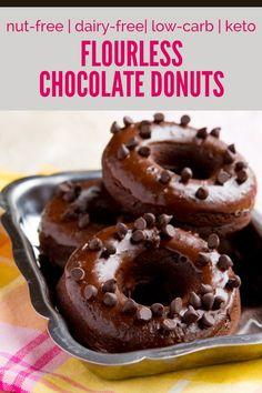 Healthful Pursuit | Flourless Triple Chocolate Donuts (nut-free, dairy-free, low-carb + keto)