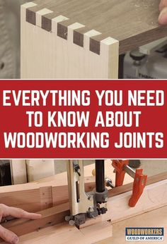Looking for the perfect woodworking joints to complete your wood projects? Check out our woodworking joinery videos. We cover how to create them all from cutting dados to rub joints. #howtowoodworking #woodworkingtools