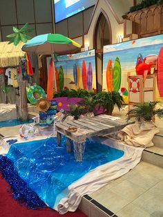 There are some things I& relinquished as a church volunteer (this year was my last co-chairing the Easter Festival for one), but doing the. Luau Party Decorations, Luau Theme Party, Prom Decor, Homecoming Floats, Homecoming Themes, Surf Shack, Vbs Themes, Beach Themes, Indoor Beach Party
