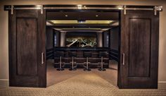 Holladay Residence – contemporary – media room – salt lake city – Big Fish Autom… – Home theater design Movie Theater Rooms, Home Theater Decor, Home Theater Seating, Home Theater Design, Cinema Room, Home Decor, Home Theatre Rooms, Home Theater Basement, Basement Movie Room