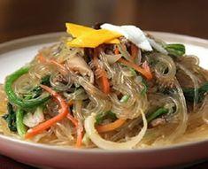 Korean Food | Japchae | Vermicelli Noodle w/ Beef & Vegetables