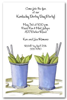 ♔ Kentucky Derby Invitations