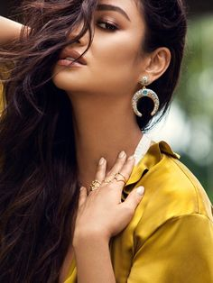 Shay Mitchell Guest Bartender Collection. Add some boho glam to your look with these crystal-encrusted crescent moons.
