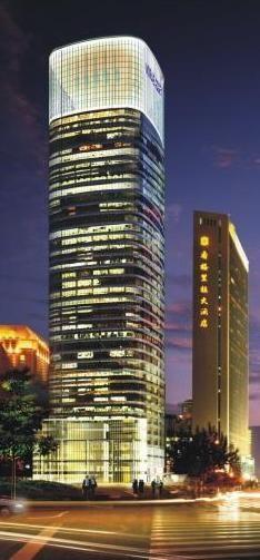 Mirae Asset Tower, Shanghai, China by Kohn Pedersen Fox Associates (KPF) :: 32 floors, height 180m