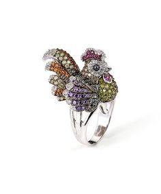 Another great find on #zulily! Red Cubic Zirconia & Sterling Silver Rooster Ring #zulilyfinds