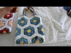 How To Line A Crochet Bag - YouTube