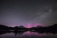 Milky Way over Sparks Lake, Oregon