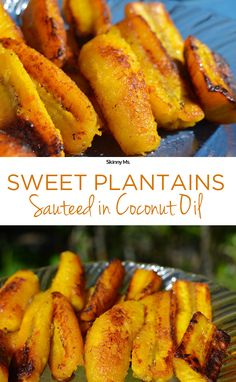 This recipe is a snap to make. All you have to do is cook the plantain slices for about 10 minutes until soft and golden. The warm, bite-sized morsels deliver caramelized flavor that simply melts in your mouth. The sweet and savory treats mak Cuban Recipes, Jamaican Recipes, Vegetarian Recipes, Cooking Recipes, Healthy Recipes, Honduran Recipes, Boricua Recipes, Dishes Recipes, Whole30 Recipes