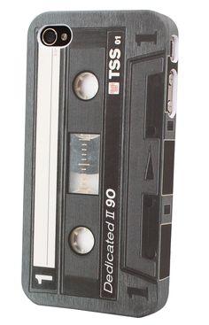 Retro Casett Audio Kassetten Tape als iPhone 4 und iPhone4S Hülle. Design by DEDICATED. aus Schweden #iphonecase #iphone4
