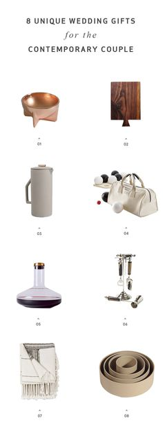 8 Unique Wedding Gifts for the Style-Lovin' Couple