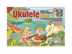 Koala Publications Ukulele Method for Young Beginner Book & Tuition CD & DVD is a carefully graded, lesson-by-lesson learning method for the younger student using very easy arrangements of many favorite children's songs. Ursula, Ukulele Books, Ukulele Accessories, Beginner Books, Learning Methods, Book Cover Art, Book Covers, Literature Books, Open Book