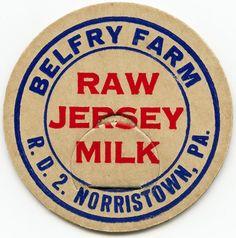 French Vintage Milk Label   vintage milk bottle cap, old fashioned dairy image, cardboard milk tag ...