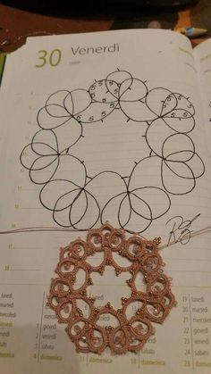 Tatting Earrings, Tatting Jewelry, Tatting Lace, Shuttle Tatting Patterns, Needle Tatting Patterns, Lace Patterns, Stitch Patterns, Needle Tatting Tutorial, Fabric Beads