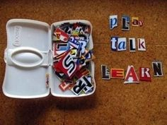 Cut out letters from magazines and newspapers for spelling lessons. | 31 Clever And Inexpensive Ideas For Teaching Your Child At Home