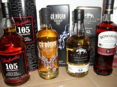 4 Flaschen Single Malt Whisky: Glenfarclas 105 / Tomatin / Bowmore 9 / Wolfburn Single Malt Whisky, Whiskey Bottle, Ebay, Drinks, Flasks, Germany, Drinking, Beverages, Drink