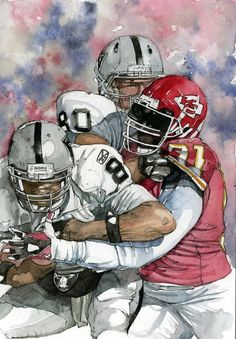 Tamba Hali sacking Raiders