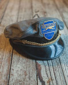 This is a 1940s Greyhound Bus Drivers Cap