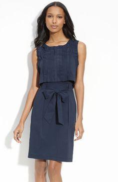 BCBGMAXAZRIA 'Popover' Stretch Cotton Dress