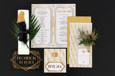 Great Gatsby wedding stationery by Flordeluxe Great Gatsby Wedding, Wedding Stationery, Wedding Invitations