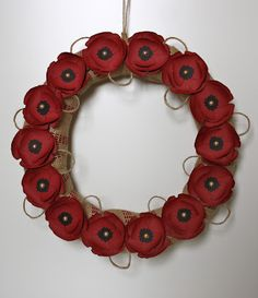 Paper à La Mode: Poppy Wreath Hobbies And Crafts, Arts And Crafts, Army Crafts, Poppy Wreath, Wreaths And Garlands, Remembrance Day, Wreath Crafts, Cute Pins, Homemade Crafts