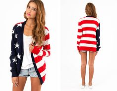 This cardigan is a must-have for the 4th.