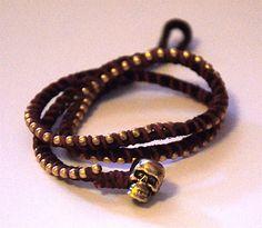 DIY bracelet - minus the skull for me...  :)