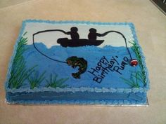 fishing design cakes | cake with buttercream icing and fondant accents. Used a cake design ...