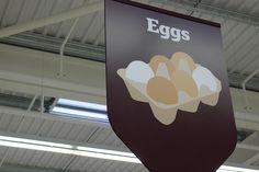 Supermarket Signage & Design | Retail Design | Shop Interiors | eggs... by J Sainsbury, via Flickr