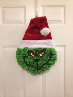 Grinch christmas wreath by JackiLynnCreations on Etsy christmas ideas etsy Grinch Christmas Decorations, Grinch Ornaments, Holiday Wreaths, Holiday Crafts, Christmas Ornaments, Christmas Ideas, Winter Wreaths, Christmas Carol, Holiday Ideas