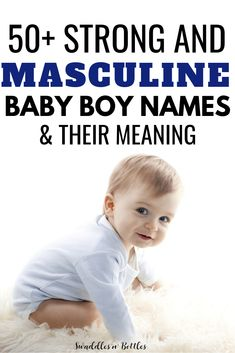 Strong and masculine Baby Boy Names. Baby boy name ideas. Both classic and unique names for boys and their meanings. Classic Boy Names, Unique Boy Names, Unique Baby, Unique Names For Boys, Baby Boy Names Strong, Strong Names, Baby Girl Names, Labor Nurse, Preparing For Baby