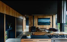 Five Yards House is a new one-bedroom home designed by Archier, an architecture studio based in Melbourne and Hobart, Australia. One Bedroom House, Interior Architecture, Interior Design, Residential Architecture, Interior Ideas, Mid Century House, House And Home Magazine, Mid-century Modern, Rustic Modern