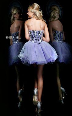 Sherri Hill 11131 Lilac Short Corset Prom DressOutlet